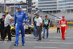 May 26, 2018 - Concord, North Carolina, United States of America - Elliott Sadler (1) hangs out on pit road before qualifying for the Alsco 300 at Charlotte Motor Speedway in Concord, North Carolina. (Credit Image: © Chris Owens Asp Inc/ASP via ZUMA Wire)