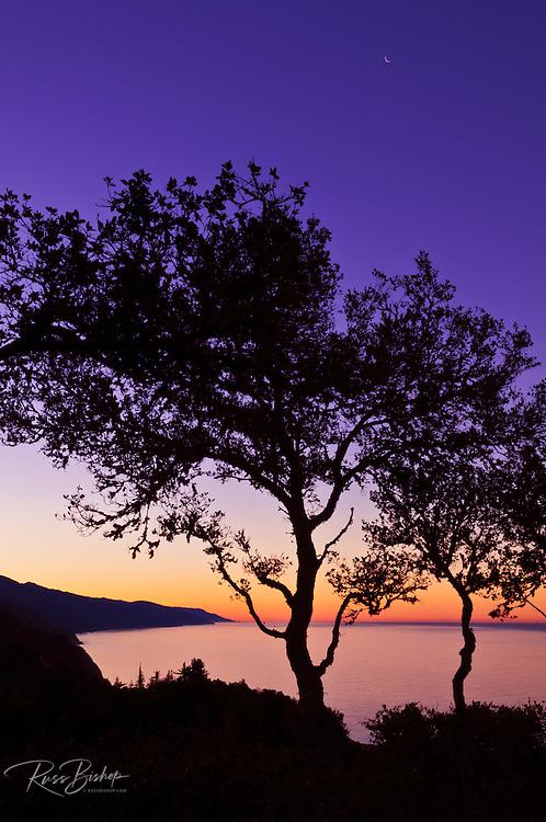 Dawn light over the Big Sur coast, California