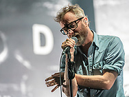 Matt Berninger of American indie-rock band The National at Jahrhunderthalle in Frankfurt