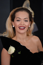 Rita Ora attends the 60th Annual GRAMMY Awards at Madison Square Garden on January 28, 2018 in New York City. Photo by Lionel Hahn/ABACAPRESS.COM