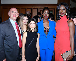 Edinburgh International Film Festival 2019<br /> <br /> Boyz In The Wood (European Premiere)<br /> <br /> Stars and guests enjoy the after party<br /> <br /> Pictured: Gregg Schwenk (left, founder and CEO of Newport Beach Film Festival) with Moyo Akande and Morayo Akande (right)<br /> <br /> Alex Todd | Edinburgh Elite media