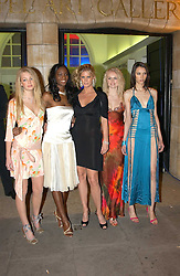 Centre Model RACHEL HUNTER (in black) with contestants from her TV show 'Make me a Supermodel' SAM ROWLEY, ANTOINETTE WILLIAMS, JOANNE DOWNES and EMILY MANN at the Art Plus Dance Party 2005 - an evening of live dance, film and partying held at the Whitechapel Art Gallery, 80-82 Whitechapel High Street, London on 21st March 2005.<br /><br />NON EXCLUSIVE - WORLD RIGHTS
