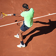 PARIS, FRANCE June 1.  Rafael Nadal of Spain in action against Alexei Popyrin of Australia on Court Philippe-Chatrier during the first round of the singles competition at the 2021 French Open Tennis Tournament at Roland Garros on June 1st 2021 in Paris, France. (Photo by Tim Clayton/Corbis via Getty Images)