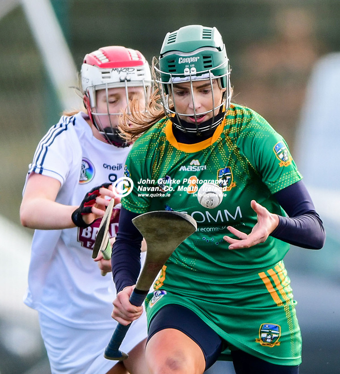 Meath's Kristina Troy solos up the field in the    Meath v Kildare Littlewoods Div 2 Camogie League, at the  Meath centre of Excellence Dunganny, Co Meath <br /> <br /> Photo: GERRY SHANAHAN-WWW.QUIRKE.IE<br /> <br /> 23-02-2020