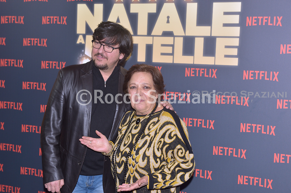 Ricky Menphis and Roberta Fiorentini PHOTOCALL<br /> del film NATALE A 5 STELLE di  MARCO RISI. 7 dicembre 2018