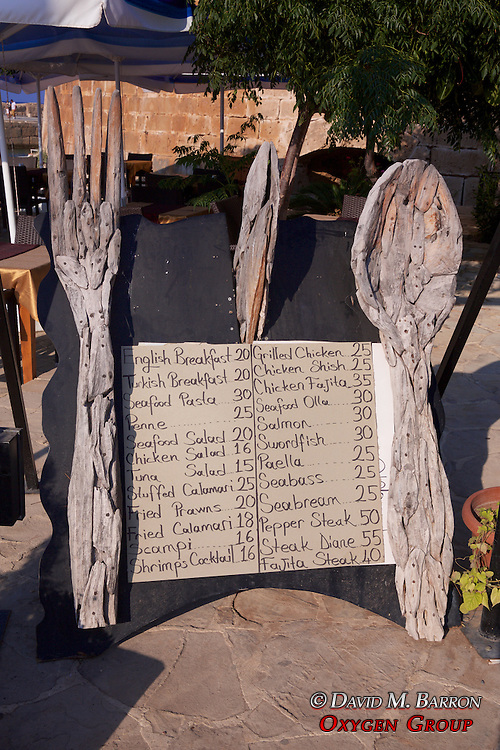 Restaurant Menu, Girne Harbor