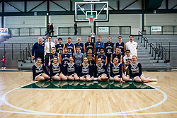 23 January 2016: IHSA Basketball game during the McLean County Tournament at Shirk Center in Bloomington Illinois - boys 3rd place -  Fieldcrest v Blue Ridge