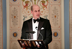 The Duke of Cambridge makes a speech as he attends Dinner at the Royal Palace, Oslo, Norway and the end of the third day of his tour of Scandinavia.