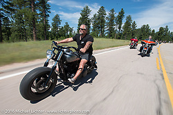 The Annual Cycle Source and Michael Lichter Rides (combined this year) left from the new Broken Spoke area of the Iron Horse Saloon during the Sturgis Black Hills Motorcycle Rally. SD, USA.  Wednesday, August 10, 2016.  Photography ©2016 Michael Lichter.