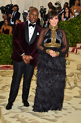 Kris Jenner and Corey Gamble attending the Costume Institute Benefit at The Metropolitan Museum of Art celebrating the opening of Heavenly Bodies: Fashion and the Catholic Imagination. The Metropolitan Museum of Art, New York City, New York, May 7, 2018. Photo by Lionel Hahn/ABACAPRESS.COM