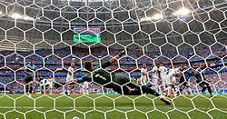 SAMARA, June 25, 2018  Russia's goalkeeper Igor Akinfeev (C) misses a goal of Uruguay's Luis Suarez during the 2018 FIFA World Cup Group A match between Uruguay and Russia in Samara, Russia, June 25, 2018. (Credit Image: © Bai Xueqi/Xinhua via ZUMA Wire)