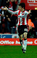 Photo: Alan Crowhurst.<br />Southampton v Norwich City. Coca Cola Championship. 16/12/2006. Saints Gareth Bale celebrates his goal 1-1.