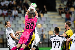 Matko Obradovic of NS Mura makes a save during football match between NS Mura and Vitesse (NED) in 1st round of UEFA Europa Conference League 2021/22, on 16 of September, 2021 in Ljudski Vrt, Maribor, Slovenia. Photo by Blaž Weindorfer / Sportida