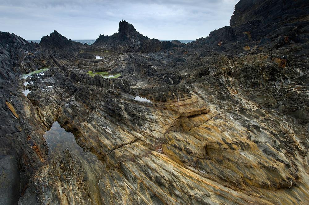 Rocky coast landscape, Southwest Alentejo and Vicentine Coast Natural Park, Portugal