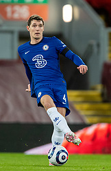 LIVERPOOL, ENGLAND - Thursday, March 4, 2021: Chelsea's Andreas Christensen during the FA Premier League match between Liverpool FC and Chelsea FC at Anfield. Chelsea won 1-0 condemning Liverpool to their fifth consecutive home defeat for the first time in the club's history. (Pic by David Rawcliffe/Propaganda)