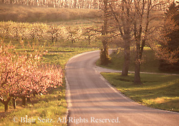 Roads, highways, back roads, PA, springtime, Gettysburg National Military Park