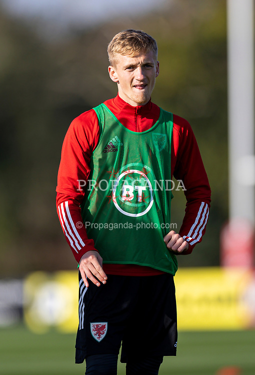 CARDIFF, WALES - Wednesday, October 7, 2020: Wales' Matthew Smith during a training session at the Vale Resort ahead of the International Friendly match against England. (Pic by David Rawcliffe/Propaganda)