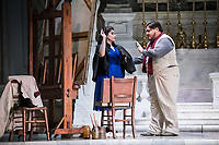 Diego Torre as  Cavaradossi and Carmen Giannattasio as  Tosca ,Tosca Opera at The Sydney Opera,  final dress rehearsal, Sydney, Australia  Feb 2021 photo by Rhiannon Hopley