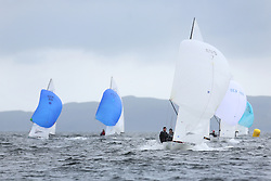 The Flying Dutchman World Championships,  Largs 2014. First days racing in breezy conditions on the Clyde. <br /> <br /> The former Olympic class has attract 40 worldwide competitors to Scotland to compete. <br /> AUS 7, Edward Cox and Peter Bevis<br /> <br /> PIctures Marc Turner / PFM Pictures