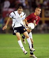 Fotball<br /> Italia<br /> Foto: Inside/Digitalsport<br /> NORWAY ONLY<br /> <br /> Rieti 19/8/2006 <br /> Amichevole Roma Real Zaragozza 0-0<br /> <br /> Daniele DE ROSSI Roma and Andres D'ALESSANDRO Real Saragozza