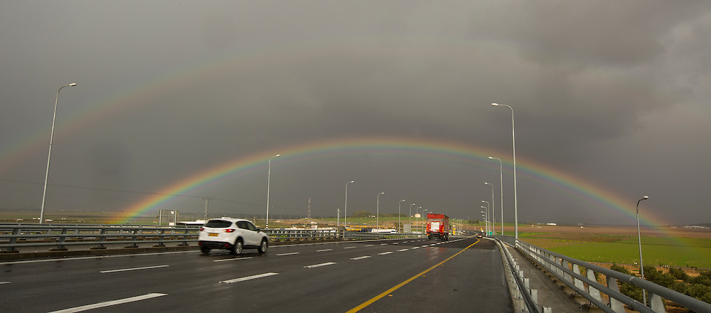 Full Double Rainbow. Photographed in Israel in January