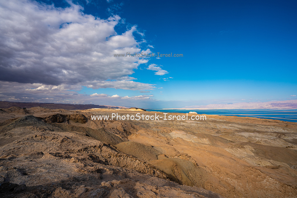 Aerial photograph of mount Sdom in the southern basin of the Dead sea, Israel