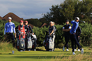 Isaiah Salinda (USA) on the 6th tee during Day 2 Foursomes of the Walker Cup, Royal Liverpool Golf CLub, Hoylake, Cheshire, England. 08/09/2019.<br /> Picture Thos Caffrey / Golffile.ie<br /> <br /> All photo usage must carry mandatory copyright credit (© Golffile   Thos Caffrey)
