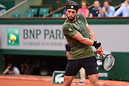 Nikoloz Basilashvili (GEO) during the preliminary rounds of the Roland Garros Tennis Open 2017 at Roland Garros Stadium, Paris, France on 2 June 2017. Photo by Jon Bromley.