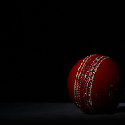 A studio shot of a Gray-Nicolls Cricket ball showing the seam and stitching. 20th October 2012. Photo Tim Clayton