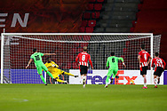 Jordi Gomez of Omonia Nicosia misses from the penalty spot during the UEFA Europa League, Group E football match between PSV and Omonia Nicosia on December 10, 2020 at Philips Stadion in Eindhoven, Netherlands - Photo Perry vd Leuvert / Orange Pictures / ProSportsImages / DPPI
