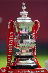 A general view of the Emirates FA Cup trophy