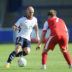 TELFORD COPYRIGHT MIKE SHERIDAN 1/9/2018 - Adam Dawson of AFC Telford during the Vanarama Conference North fixture between AFC Telford United and Ashton United FC.