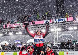 01.03.2019, Seefeld, AUT, FIS Weltmeisterschaften Ski Nordisch, Seefeld 2019, Skisprung, Herren, im Bild Kamil Stoch (POL), Stefan Hula (POL), Goldmedaillengewinner und Weltmeister Dawid Kubacki (POL) // Kamil Stoch of Poland, Stefan Hula of Poland, Gold Medalist and worldchampion Dawid Kubacki of Poland during the men's Skijumping of FIS Nordic Ski World Championships 2019. Seefeld, Austria on 2019/03/01. EXPA Pictures © 2019, PhotoCredit: EXPA/ JFK