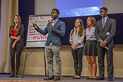 Purchase, NY – 31 October 2014. Part of the team from Woodlands High School. (Left to right:  Kaltrina Celaj, Awa Nymabi, Alex Jarmatz, Jillian Berridge, Akibo Watson.) Woodlands High School went on to place second in the 2014 competition. The Business Skills Olympics was founded by the African American Men of Westchester, is sponsored and facilitated by Morgan Stanley, and is open to high school teams in Westchester County.