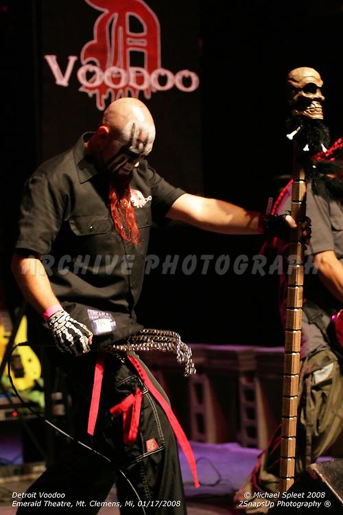 MT. CLEMENS, MI, THURSDAY, JAN. 17, 2008: Detroit Voodoo, Rube at Emerald Theatre, Mt. Clemens, MI, 01/17/2008. (Image Credit: Michael Spleet / 2SnapsUp Photography)
