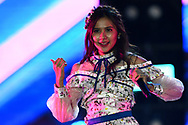 BURIRAM, THAILAND - OCTOBER 07: Namneung of BNK48 performing on the main stage after the MotoGP PTT Thailand Grand Prix 2018, Chang International Circuit, Buriram, Thailand on October 07, 2018. <br /> .<br /> .<br /> .<br /> (Photo by: Naratip Golf Srisupab/SEALs Sports Images)<br /> .<br /> Any image use must include a mandatory credit line adjacent to the content which should read: Naratip Golf Srisupab/SEALs Sports Images