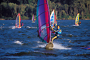 "Windsurfing at ""The Hatchery"", Columbia River Gorge, Washington USA"