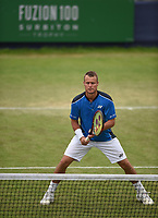 Leyton Hewit on Day Six of the Fuzion 100 Surbiton Trophy at the Surbiton Racket & Fitness Club, Surrey, United Kingdom.<br /> Picture by Daniel Hambury/Focus Images Ltd 07813022858<br /> 07/06/2018