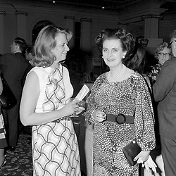 19 May 1971 - Lady Edith Foxwell and Margaret, Duchess of Argyll at a reception in London.<br /> <br /> Photo by Desmond O'Neill Features Ltd.  +44(0)1306 731608  www.donfeatures.com
