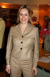 BBC Newsreader SOPHIE RAWORTH at a party attended by HRH The Countess of Wessex to celebrate the 5th birthday of Breast Cancer Haven's - The London Haven, Effie Road, London on 10th February 2005.<br /><br />NON EXCLUSIVE - WORLD RIGHTS