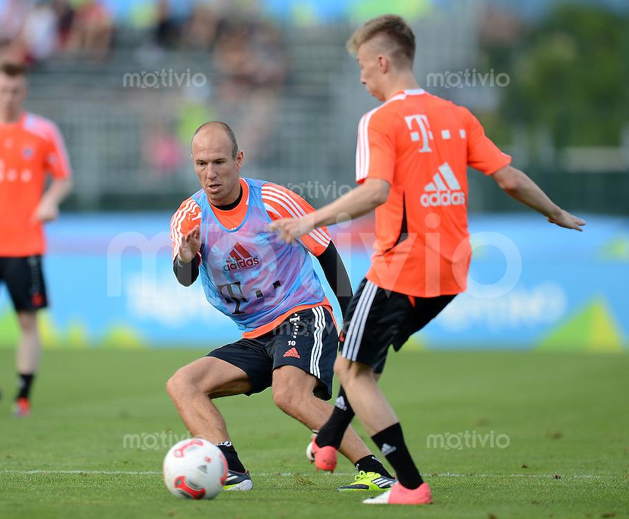 Fussball 1. Bundesliga:  Saison  Vorbereitung 2012/2013     Trainingslager des FC Bayern Muenchen 15.07.2012 Arjen Robben (FC Bayern Muenchen)