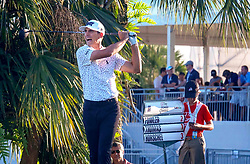 February 28, 2019 - Florida, U.S. - Billy Horschel reacts after he tees off on the 18th hole during the first round of The Honda Classic Thursday, February 28, 2019 at the PGA National Resort & Spa in Palm Beach Gardens. (Credit Image: © Bruce R. Bennett/The Palm Beach Post via ZUMA Wire)