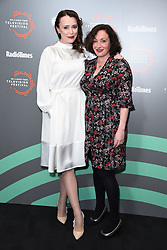 Keeley Hawes and Lucy Cohu pictured during the BFI and Radio Times Television Festival, at the BFI South Bank in London. Picture date: Friday April 12, 2019. Photo credit should read: Matt Crossick/Empics