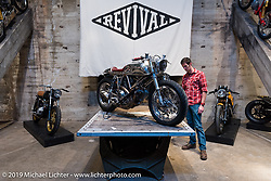 Custom Ducati by Revival Motorcycles at the Handbuilt Motorcycle Show. Austin, TX, . April 10, 2015.  Photography ©2015 Michael Lichter.