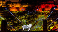 BALĀHA - Ancient theatre - The great theatre, Lyon 5<br /> Artist: Damien Fontaine<br /> TheFestival of Lights inLyon,Franceexpresses gratitude towardMary, mother of Jesusaround December 8th of each year.<br /> This uniquely Lyonnaise tradition dictates that every house place candles along the outsides of all the windows to produce a spectacular effect throughout the streets. The festival includes other activities based on light and usually lasts four days, with the peak of activity occurring on the 8th. <br /> The two main focal points of activity are typically theBasilica of Fourvierewhich is lit up in different colours, and thePlace des Terreaux, which hosts a different light show each year.<br /> Spared from plague<br /> The origins of the festival date to 1643 when Lyon was struck byplague. <br /> On September 8,1643 the municipal councillors promised to pay tribute to Mary if the town was spared. Ever since, a solemn procession makes its way to the Basilica of Fourviere on 8 December (the feast of theImmaculate Conception) to light candles and give offerings in the name of Mary. <br /> In part, the event thus commemorates the day Lyon was consecrated to the Virgin Mary.