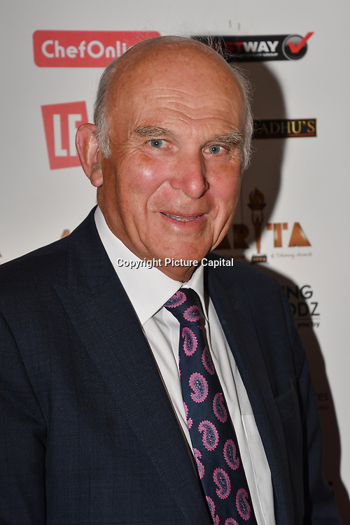 Vince Cable attend at Asian Restaurant & Takeaway Awards   ARTA 2018 at InterContinental London - The O2, London, UK. 30 September 2018.