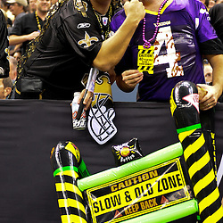 September 9, 2010; New Orleans, LA, USA; New Orleans Saints fans in the stands prior to kickoff of the NFL Kickoff season opener at the Louisiana Superdome. The New Orleans Saints defeated the Minnesota Vikings 14-9.  Mandatory Credit: Derick E. Hingle