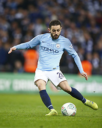February 24, 2019 - London, England, United Kingdom - Manchester City's Bernardo Silva scores his penalty.during during Carabao Cup Final between Chelsea and Manchester City at Wembley stadium , London, England on 24 Feb 2019. (Credit Image: © Action Foto Sport/NurPhoto via ZUMA Press)