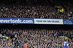 Everton Fans - Photo mandatory by-line: Dougie Allward/JMP - Tel: Mobile: 07966 386802 23/11/2013 - SPORT - Football - Liverpool - Merseyside derby - Goodison Park - Everton v Liverpool - Barclays Premier League