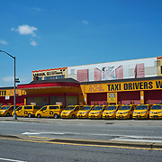NYCVIRUS NYTVIRUS Yellow cabs sit along 4th Avenue in Gowanus, Brooklyn, New York on Sunday April 19, 2020. John Taggart for The New York Times